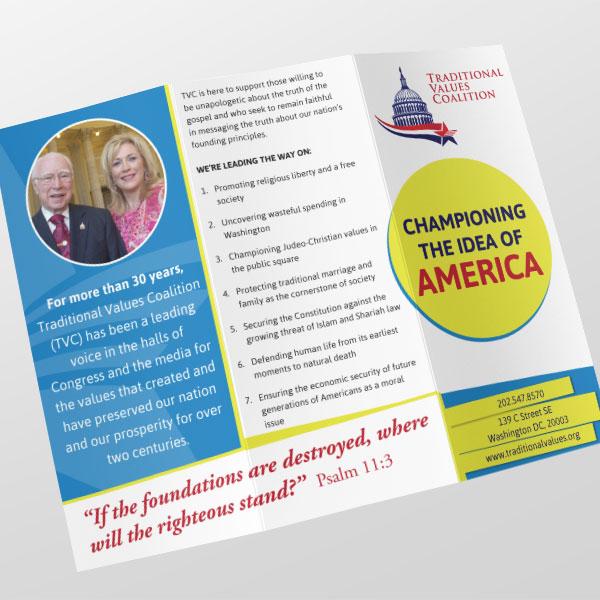 Traditional Values Coalition Brochure Outside