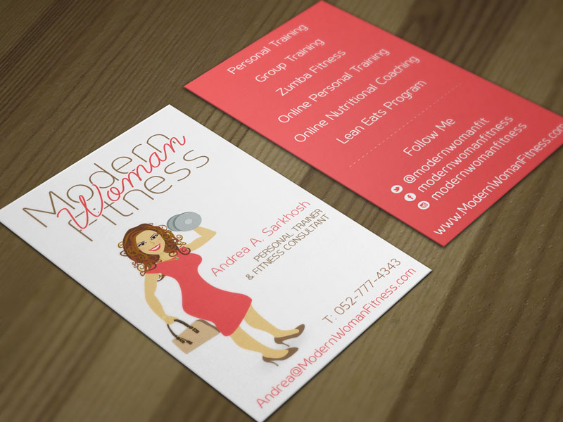 Modern Woman Fitness business card